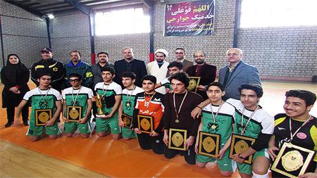 افتخار آفرینی تیم سما لاهیجان در مسابقات المپیاد استان گیلان در رشته های فوتسال و تنیس روی میز