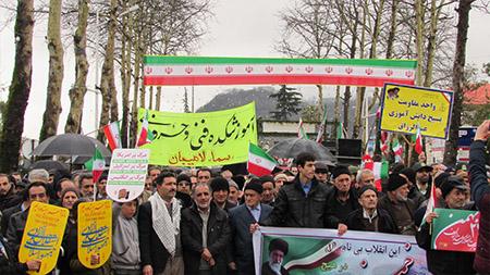 حضور پرشور اهالی سما لاهیجان و سیاهکل در راهپیمایی 22 بهمن