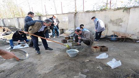 اولین دوره مسابقات ساخت بتن در سما سیاهکل برگزار شد