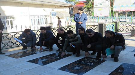 برگزاری نشست بصیرتی دانشجویان سما سیاهکل به مناسبت یوم ا... نهم دی در مزار شهدای این شهرستان