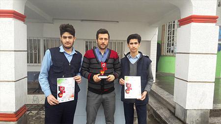 افتخارآفرینی تیم رباتیک دبیرستان دور دوم پسران سما لاهیجان در سطح استان