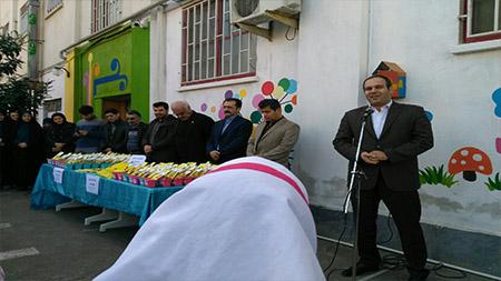 اجرای مراسم اهدای مداد سبز در مدرسه سبز سما لاهیجان
