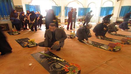 تجدید میثاق مسوولین و کارکنان سما لاهیجان و سیاهکل با آرمان های شهدا