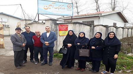 حضور مسوولین و کارکنان سما لاهیجان و سیاهکل در خانه آمین و سرای سالمندان در آستانه عید نوروز
