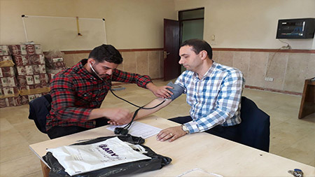 اجرای برنامه خطرسنجی بیماری های قلبی و عروقی در سما لاهیجان با مشارکت مرکز بهداشت