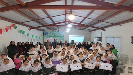 برگزاری همایش«من زمین را دوست دارم» در مدرسه سبز سما سیاهکل