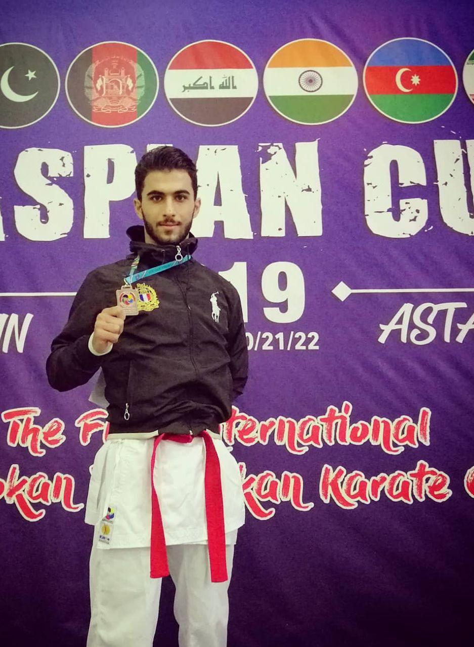 مدال برنز مسابقات جهانی کاراته بر گردن دانشجوی سمای لاهیجان